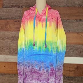 Adult Rainbow Dyed Hoodie