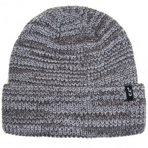Men's Two Tone Ribbed Cuff Beanie