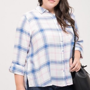 Ariel Plaid Top - Ivory