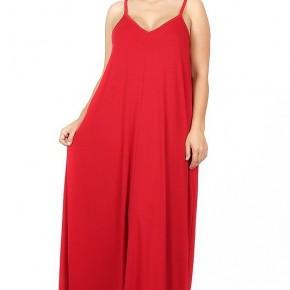 Mirabel Tank Maxi Dress - Red