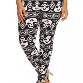Black and White Tribal Skulls