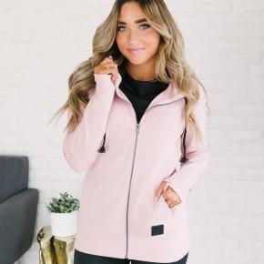 A&A Full Zip Pink Hoodie