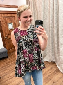 Looking For Fun Floral Tank