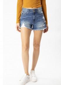 KanCan High Rise Mom Shorts