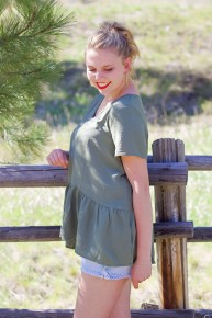 Olive You Tiered Top