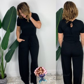 Black T Shirt Jumpsuit