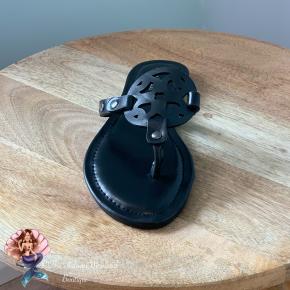 Solid Black Medallion Sandals