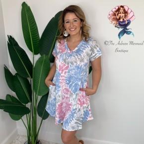 Cotton Candy Tie Dye Swing Dress