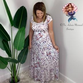 Pastel Tie Die Maxi Dress