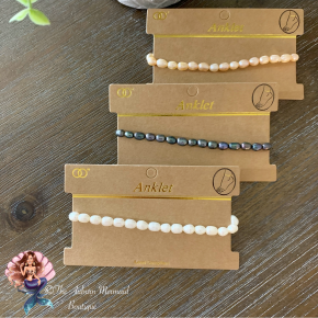 Pearl Stretch Anklets