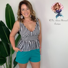 Emerald Pleated Shorts