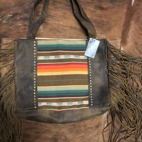 Serape leather tote by Keep it Gypsy