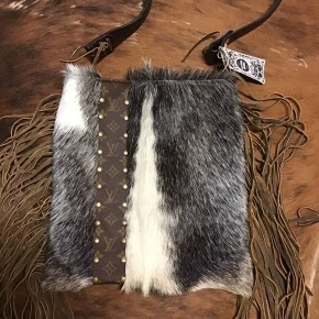 Cowhide Upcycled LV