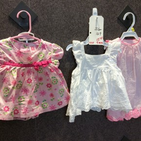SIZE 9 MOS LOT OF 3  LIKE NEW DRESSES