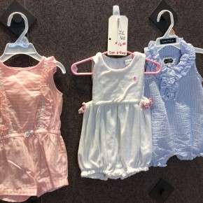 SIZE 6-9 MOS LIKE NEW LOT OF 3 ROMPERS
