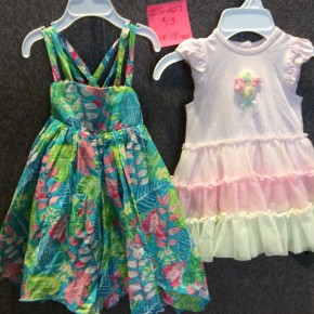 SIZE 18 MOS LIKE NEW LOT OF 2 DRESSES