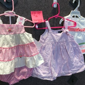 SIZE 6-12 MOS LIKE NEW LOT OF 3 DRESSES
