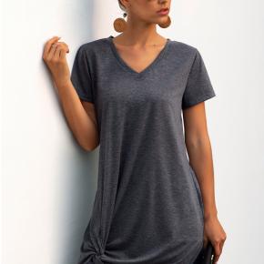 V Neck T-shirt Dress