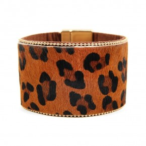 Over-sized Leopard Print Bangle