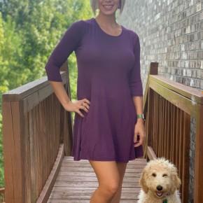 Purple Swing Dress/Tunic