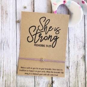 She Is Strong Wish Bracelet