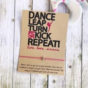 Dance Kick Leap Wish Bracelet