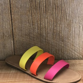 Multi Color Strappy Sandal