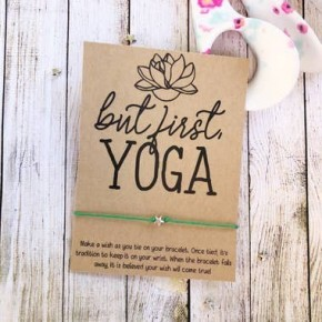 But First Yoga Wish Bracelet