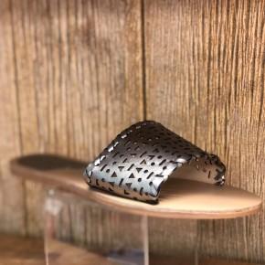 Pewter Lazer Cut Sandal