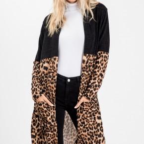 Black/Leopard Multi Cardigan