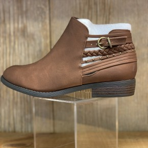 Brown Detailed Bootie