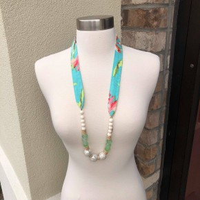 Fabric Beaded Necklace