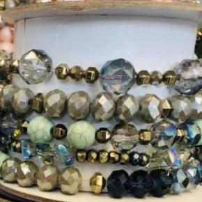Erimish Turq/mint bracelet set