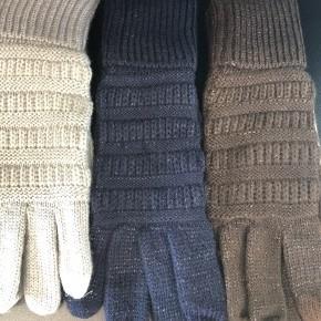 GRAY LEFT -Metallic Solid smart swipe gloves