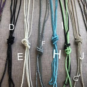 Mesh crystal necklaces