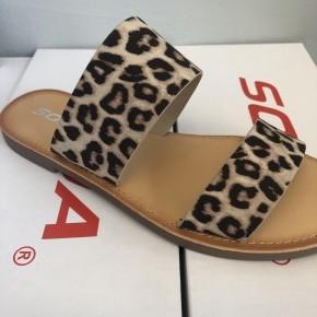 The Allie Cheetah- Double strap sandal