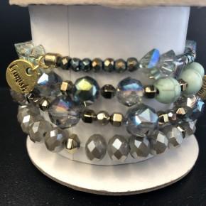 Erimish Turq/mint bracelet set 4 pack