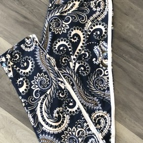 Paisley and striped OS leggings