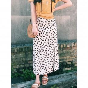 Cleo Leopard Print Maxi Skirt