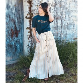 Sophie Button Front Maxi Skirt