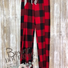 Red & Black Joggers