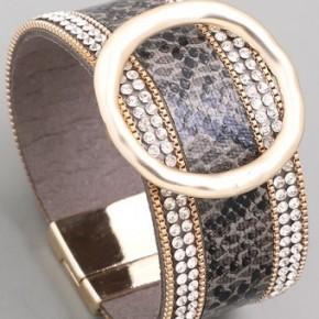 Snake Skin Bling Magnetic Bracelet