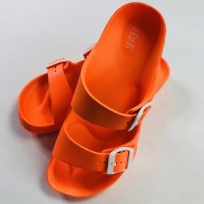 Neon Orange Comfort Slides