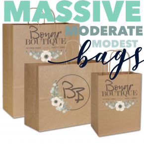 Modest moderate massive bags! *Final Sale*