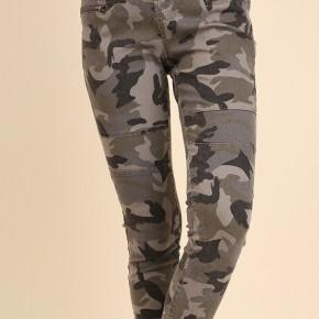 Camo Moto Pants with Zipper