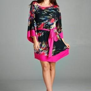 Hot Pink Kimono dress