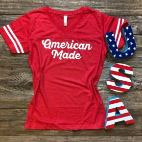 4th of July V-Nevk or Crew Neck Tee!