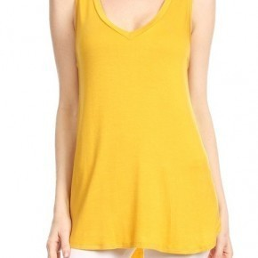 Orange V neck tunic tank