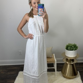 Ivory Lace Overlay Dress! SAY YES TO THIS DRESS!