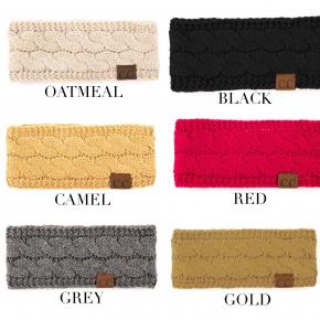 CC cable knit ear warmer headband